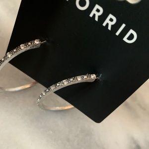 Jewelry - Diamond hoop earrings